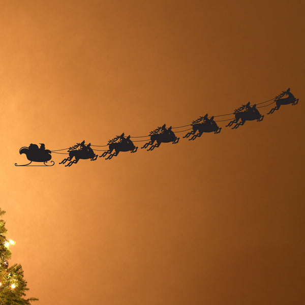 Santa & Flying Sleigh - Dana Decals - 1
