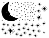 Hand-drawn Moon & Stars Mural - Dana Decals - 3