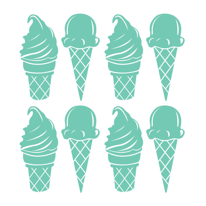 26 Piece - Ice Cream Cone Pattern SALE - Dana Decals
