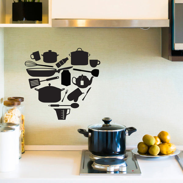 Kitchen Items Heart - Dana Decals