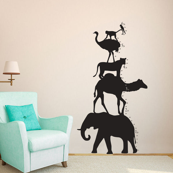 Animal Tower Growth Chart - Dana Decals