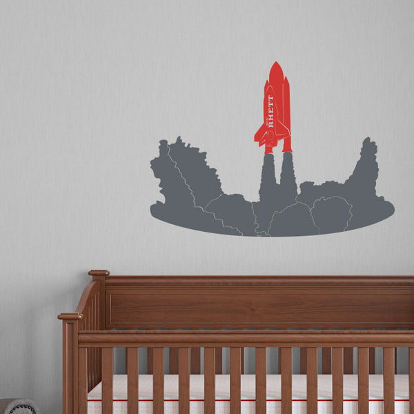 Personalized Rocket & Space Shuttle - Dana Decals