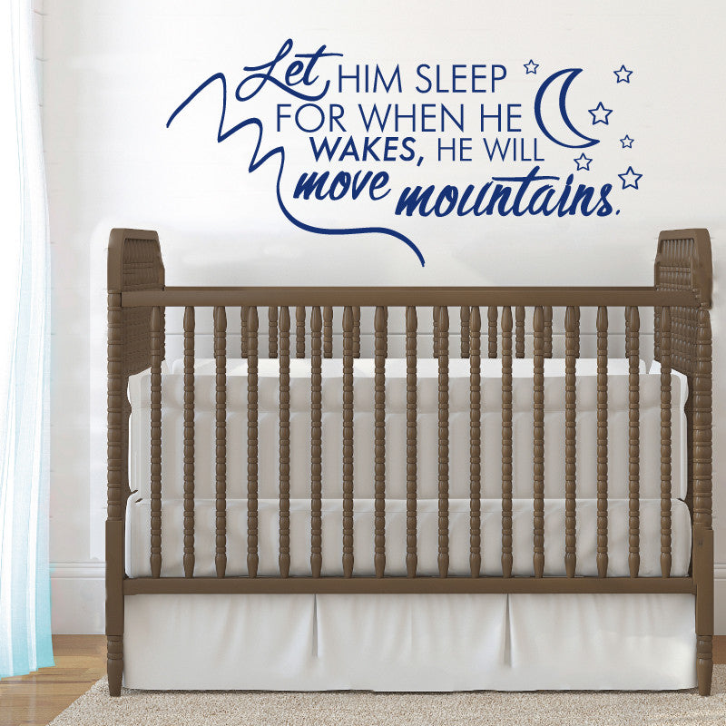Let Him Sleep - Dana Decals