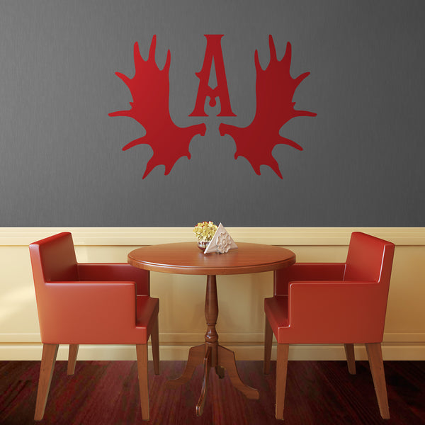 Antler Monogram - Dana Decals - 1