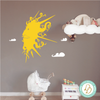 Whimsical Hand Drawn Sun & Clouds