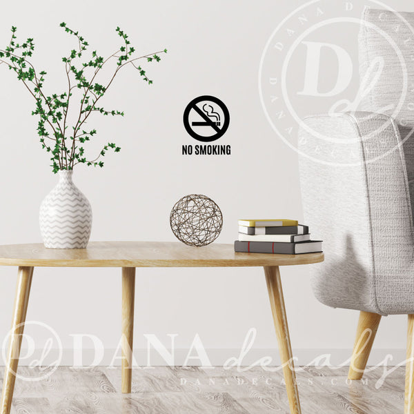 No Smoking Window or Wall Decal - Dana Decals