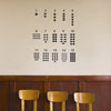 Number Chart - Dana Decals - 1
