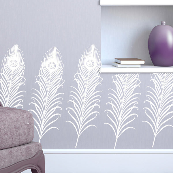Art Deco Peacock Pattern - Dana Decals - 1