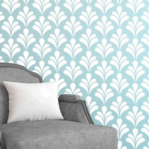 Art Deco Flower Petal Pattern Wall Decal