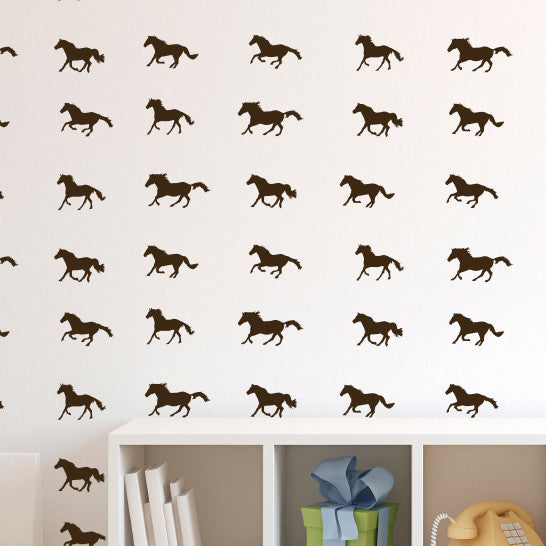 Tiny Running Horses Pattern - Dana Decals