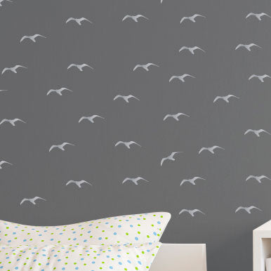Tiny Seagulls Pattern - Dana Decals - 1