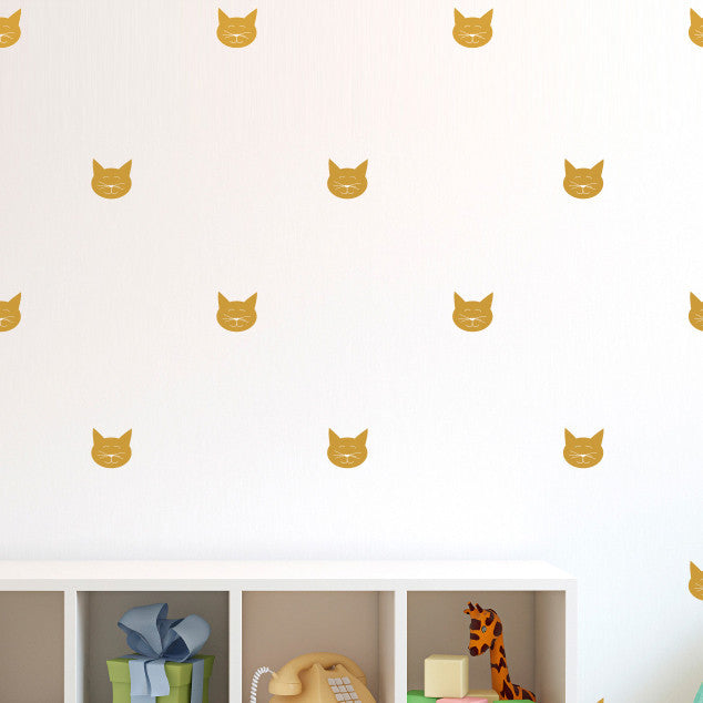 Tiny Cat Faces Pattern - Dana Decals - 2