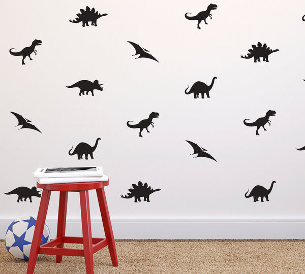 Tiny Dinosaurs Wall Pattern - Dana Decals - 1
