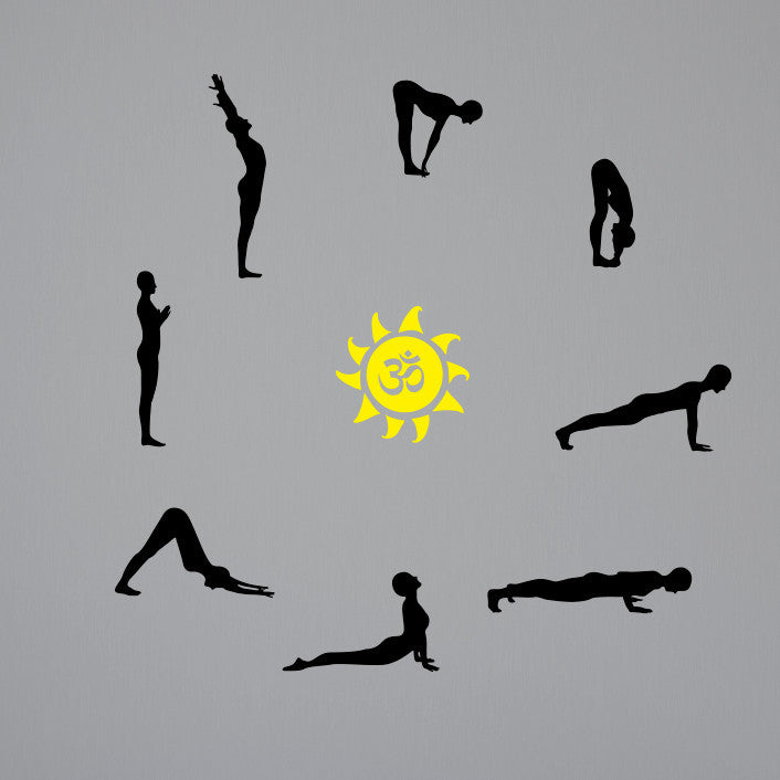 Yoga Posture Silhouettes (Small) - Dana Decals