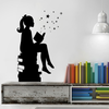 Girl Reading Books Magic Vinyl Wall Decal - Dana Decals - 2