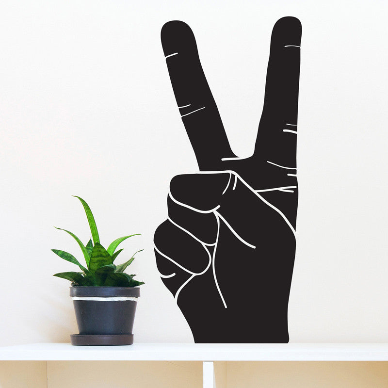 Peace Hand Sign Silhouette - Dana Decals