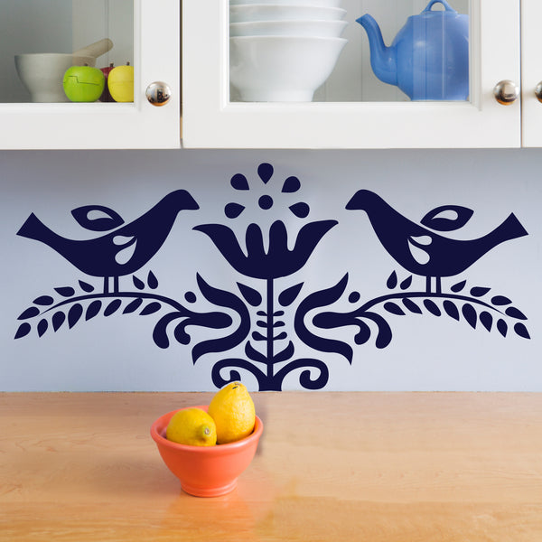 Scandinavian Bird and Branch - Dana Decals - 1
