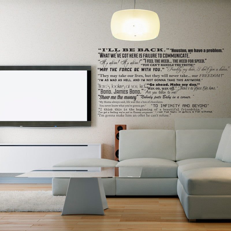 famous movie quotes collection wall decal | shop decals at dana decals