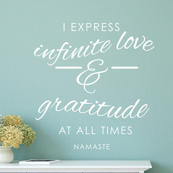 Love and Gratitude Namaste - Dana Decals