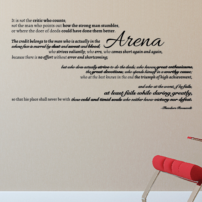 The Man in the Arena Quote - Dana Decals - 1