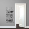 Typographic Multilingual Restroom Directions - Dana Decals