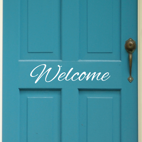 Welcome Door Sign - Dana Decals