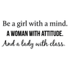 Be a Girl, Woman, and Lady Quote - Dana Decals - 5