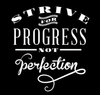 Progress Perfection Quote Wall Decal - Dana Decals - 4