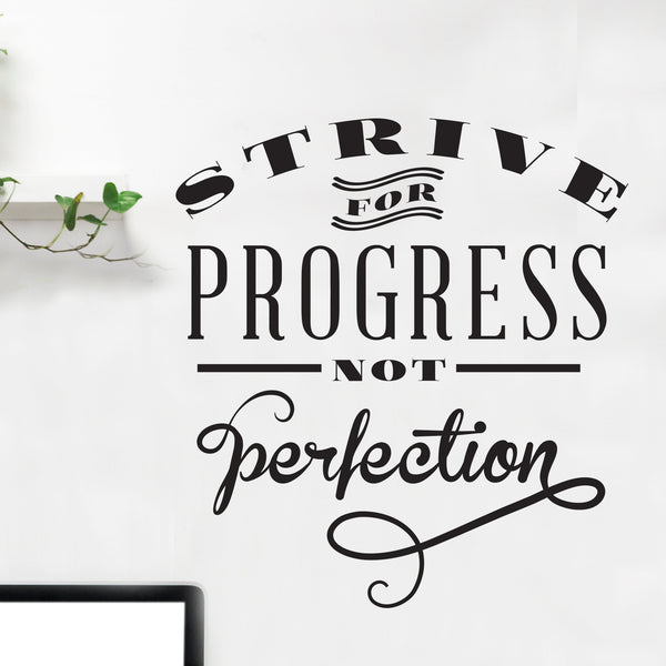Progress Perfection Quote Wall Decal - Dana Decals
