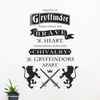 Gryffindor Brave at Heart Quote, 1 Color - Dana Decals