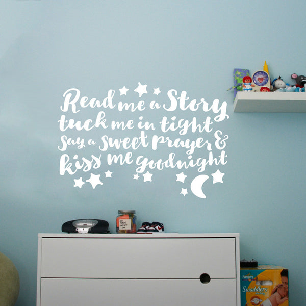 Read Me A Story Quote Wall Decal Shop Decals At Dana Decals