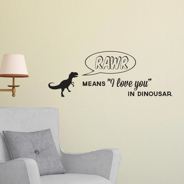 RAWR! Quote - Dana Decals