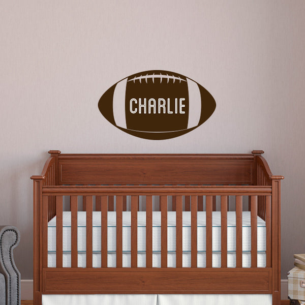 Personalized Football - Dana Decals - 1