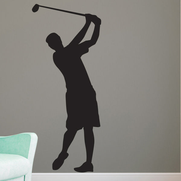 Guy Golfer Silhouette - Dana Decals