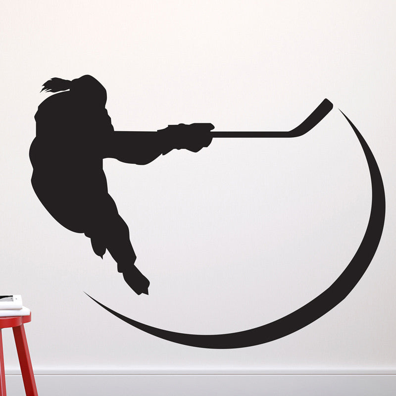Girl Hockey Player - Dana Decals