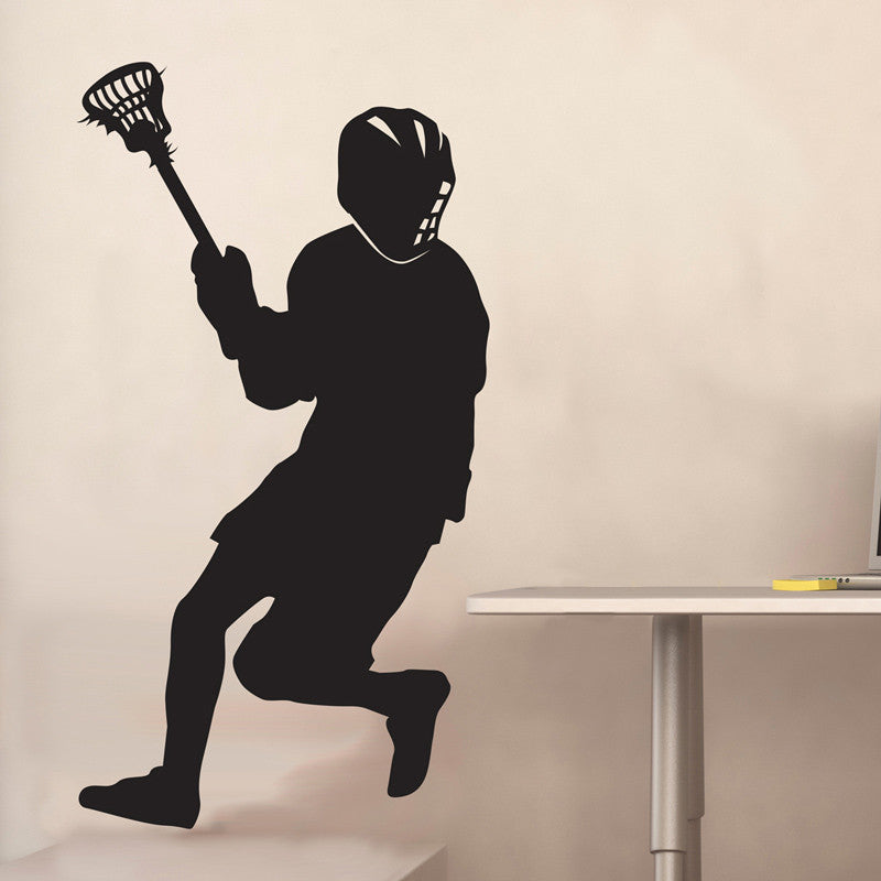 Guy Lacrosse Silhouette - Dana Decals