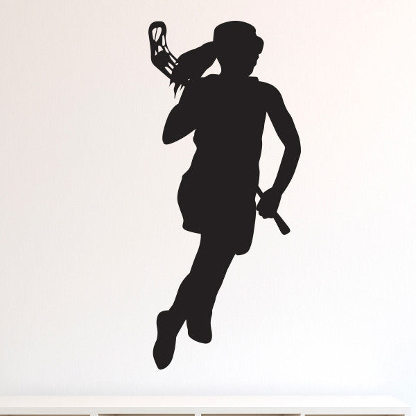 Girl Lacrosse Silhouette - Dana Decals