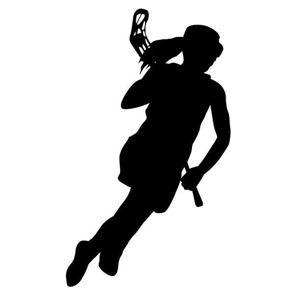 Girl Lacrosse Silhouette Sports Vinyl Wall Art Decal For