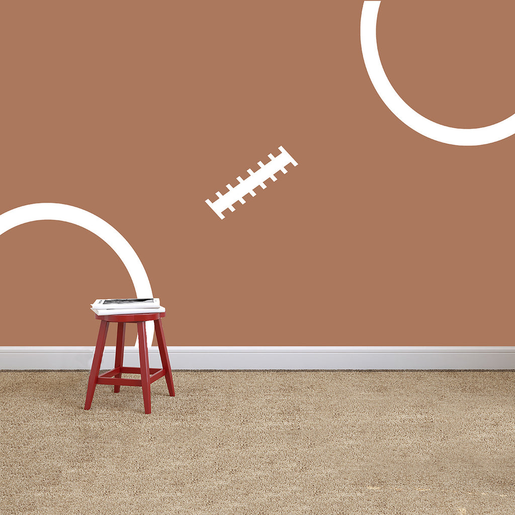Oversized Football Stitching - Dana Decals