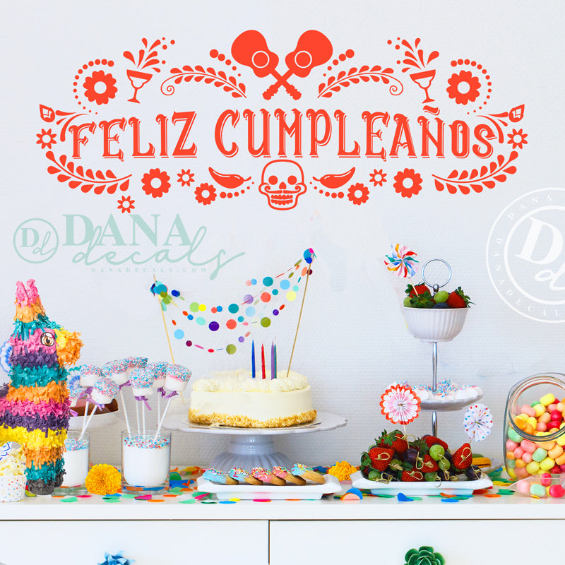 Feliz Cumpleaños Happy Birthday Sign - Dana Decals