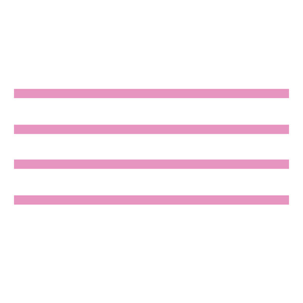 4 Pack - Small Stripes in Carnation Pink - Dana Decals