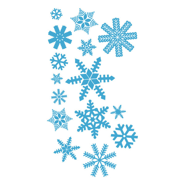 ice blue snowflakes small collection sale 2 sets for price of 1 dana decals