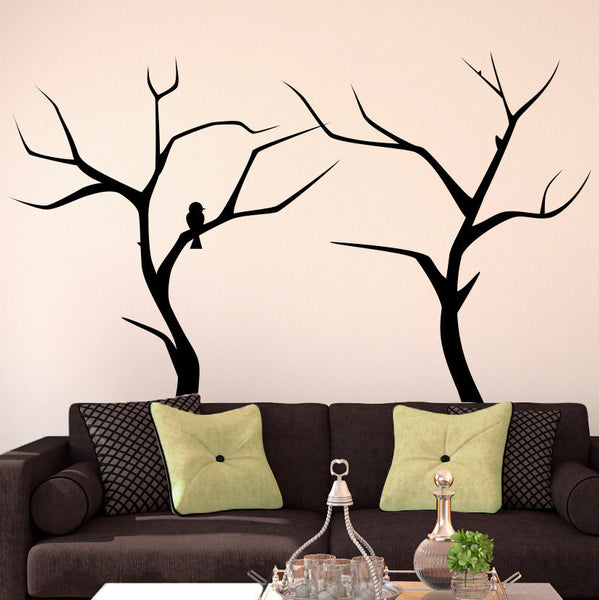 Winter Trees With Bird - Dana Decals - 1