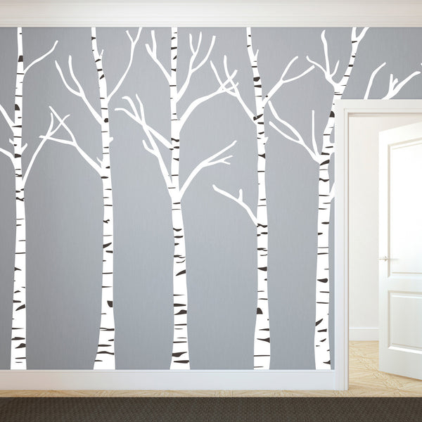Birch Trees Silhouettes Forrest - Dana Decals - 1