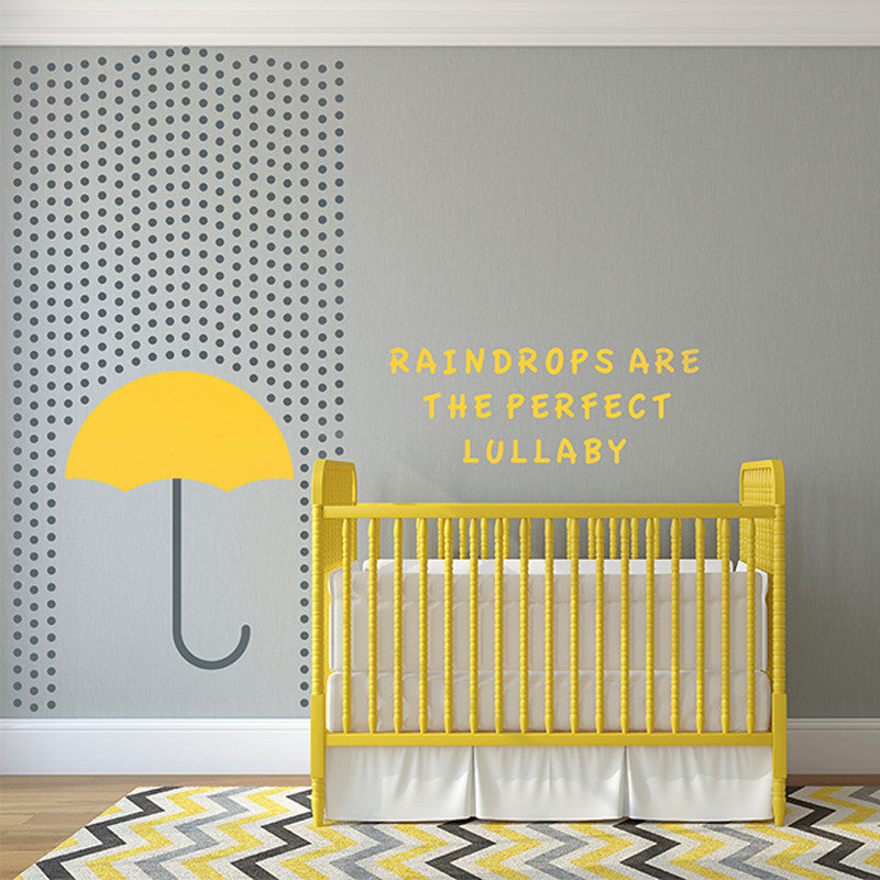 Nursery Umbrella and Rain Decal - Dana Decals