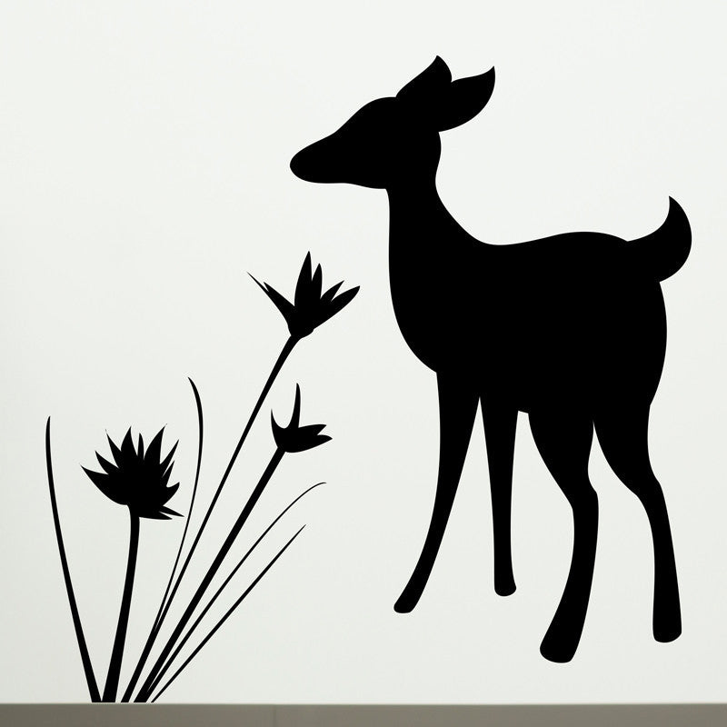 Fawn and Flowers - Dana Decals