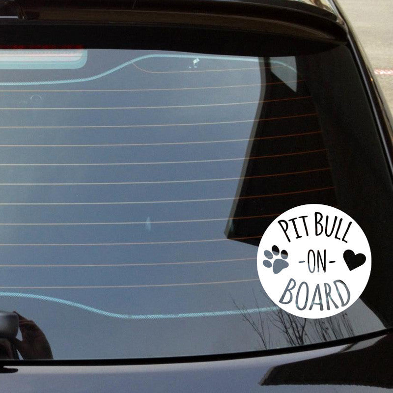 Pit Bull On Board Car Decal - Dana Decals