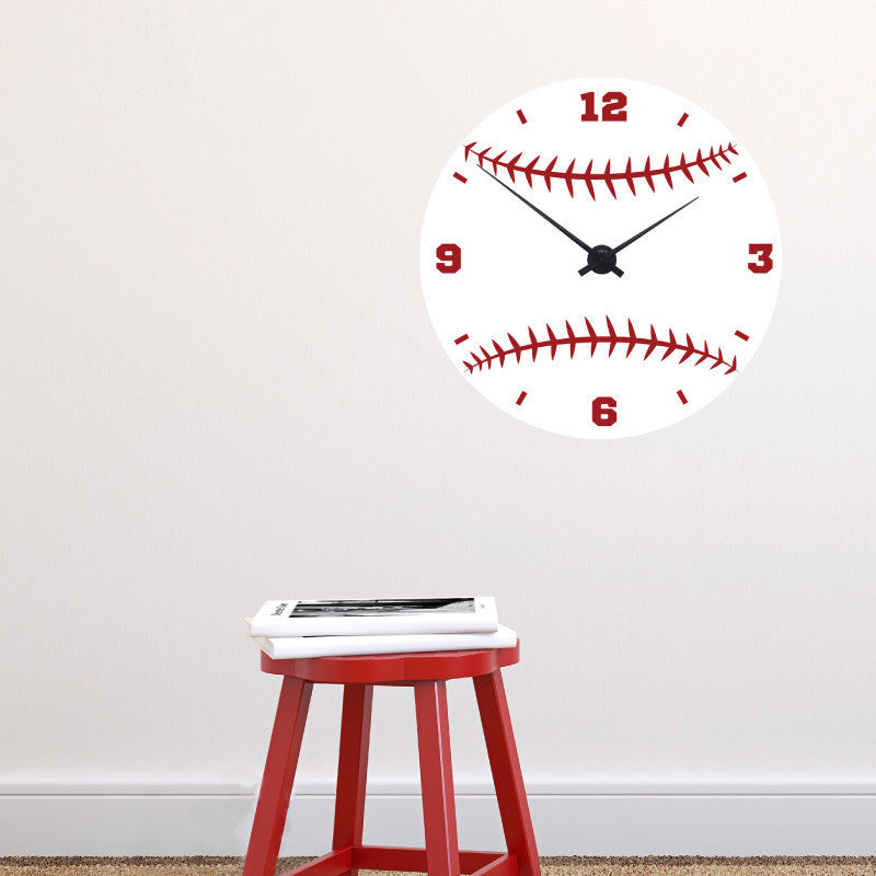 Baseball Clock Face - Dana Decals
