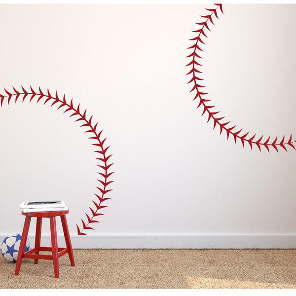 Baseball Seams Stitching - Dana Decals