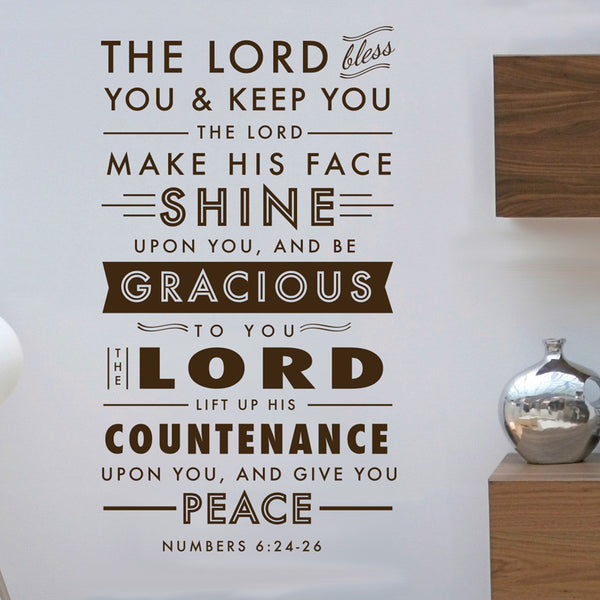 Benediction Verse -Numbers 6:24-26 - Dana Decals - 1